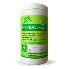 Handyclean Steridol Professional Wipes - Clean - Sanitize - Disinfect - 75 per Canister